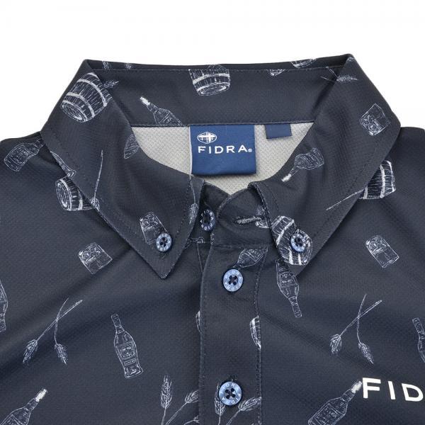 フィドラ(FIDRA) ボタンダウン 長袖ポロシャツ FB110111NVY(Men's)