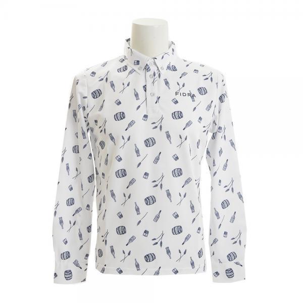 フィドラ(FIDRA) ボタンダウン 長袖ポロシャツ FB110111WHT(Men's)