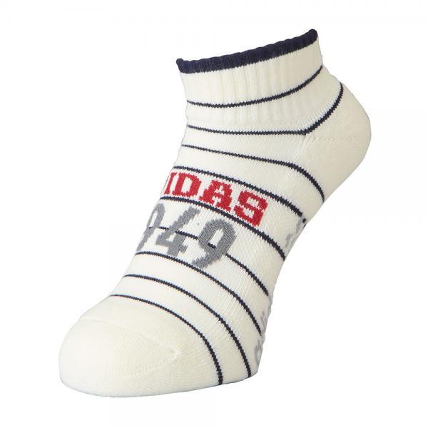 アディダス(adidas) メランジストライプソックス ショート CCQ69-N68354-ホワイト-17FW(Men's)