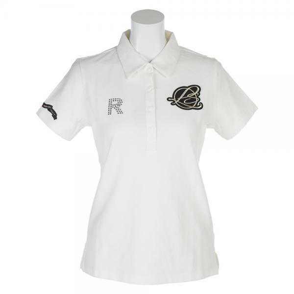 メーカーブランド エンブレムRポロシャツ RS-90106121-WHT(Lady's)