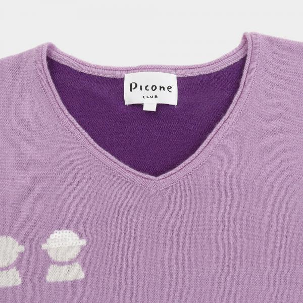 Picone プルオーバー 長袖Vネックセーター C718101-075(Lady's)