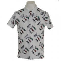 キャロウェイ(CALLAWAY) 18M フラガールプリント鹿の子ポロシャツ 241-8151503-031(Men's)