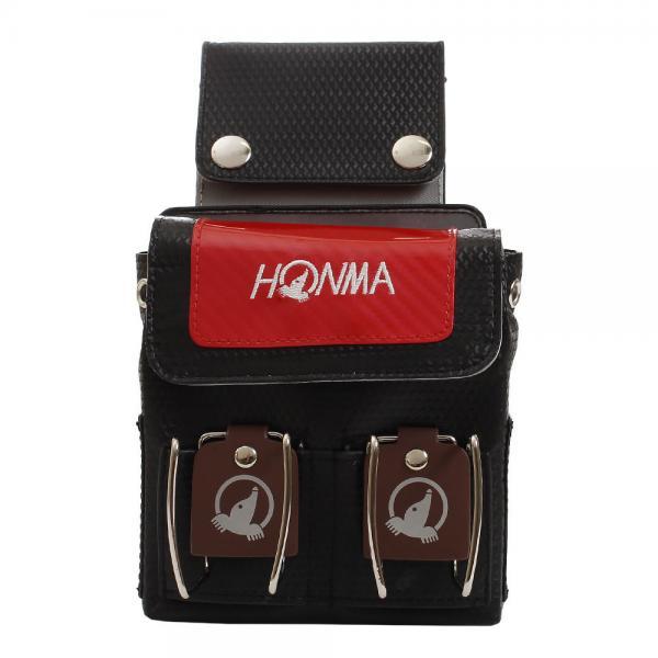 ホンマゴルフ(HONMA) パークゴルフ ウエストポーチ PGB-1801 BK/RED(Men's、Lady's)