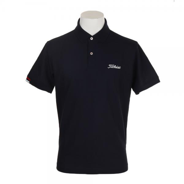 c12783460da49 タイトリスト(TITLEIST) ゴルフウェア メンズ 鹿の子ポロシャツ ネイビー TSMC1905NV(Men's)
