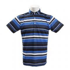 タイトリスト(TITLEIST) ゴルフウェア メンズ マルチボーダープリント 半袖ポロシャツ TSMC1923BL(Men's)
