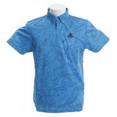 アディダス(adidas) ゴルフウェア メンズ マッププリント半袖ボタンダウンシャツ FVE71-DW8937C(Men's)