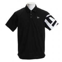 ニューエラ(NEW ERA) 鹿ノ子ポロシャツ ショルダーフラッグ BK 12046811(Men's)