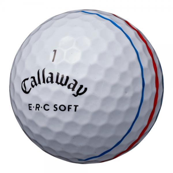 キャロウェイ(CALLAWAY) E・R・C ソフト ボール 19 TRIPLE TRACK ホワイト 3個入り(Men's)