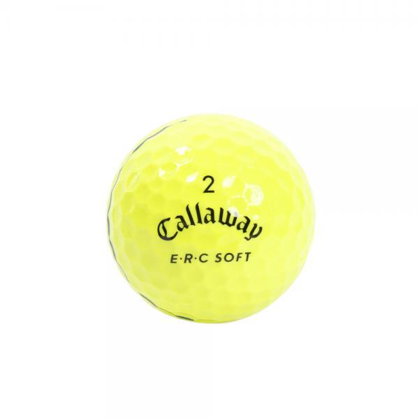 キャロウェイ(CALLAWAY) E・R・C ソフト ボール 19 TRIPLE TRACK イエロー 3個入り(Men's)