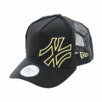 ニューエラ(NEW ERA) 9FORTY D-Frame Trucker Battalion ニューヨーク・ヤンキース ブラック × ゴールド 11120287(Men's)