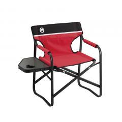 コールマン(Coleman) サイドテーブル付デッキチェアST レッド 椅子 2000017005