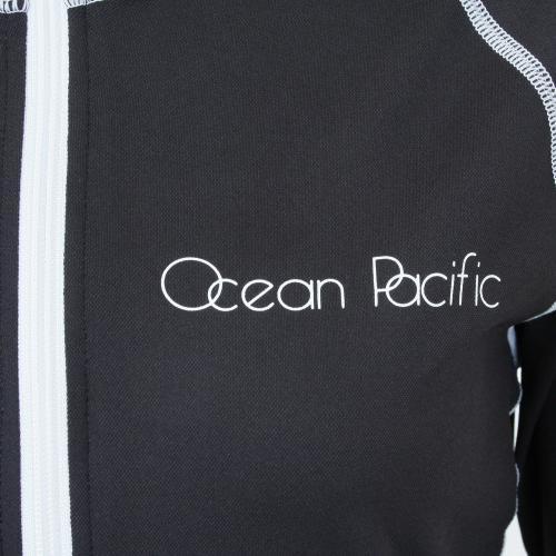 オーシャンパシフィック(Ocean Pacific) ラッシュ ナガソデ レディース 長袖 ジップ ラッシュガード 525460BK(Lady's)
