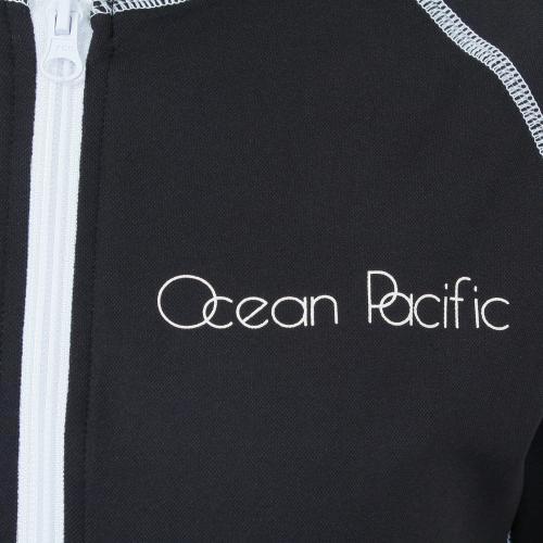 オーシャンパシフィック(Ocean Pacific) ラッシュ パーカ レディース 長袖 ジップ ラッシュガード 525461BK(Lady's)