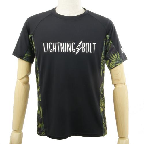 LIGHTNING BOLT ライトニングボルト LIGHTNING BOLT サイト゛ホ゛タニカルラッシュT 10493206-60.BLK ラッシュガード ブラック(Men's)