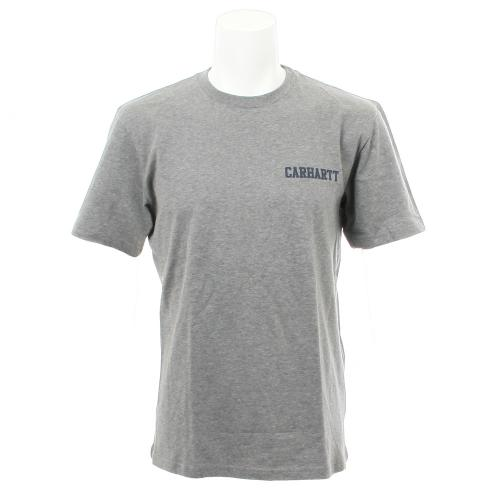 カーハート(CARHARTT) S/S COLLEGE SCRIPT カレッジ スクリプト I019638ZM90 ダークグレーヘザー/ドュークブルー アパレル メンズ ウェア インナー Tシャツ 半袖(Men's)