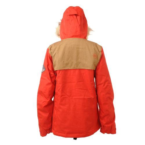 ボンファイア(Bonfire) ボンファイア BONFIRE 2015-2016 HOLLADAY JACKET (CHERRY/CAMEL) L37655900 スノーボード ジャケット(Lady's)