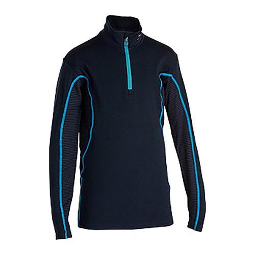 ミズノ(MIZUNO) ブレスサーモミッドウェイト ハーフジップシャツ Z2JA592072 120サイズ 子供 インナー アンダーシャツ ターコイズST スキー(Jr)