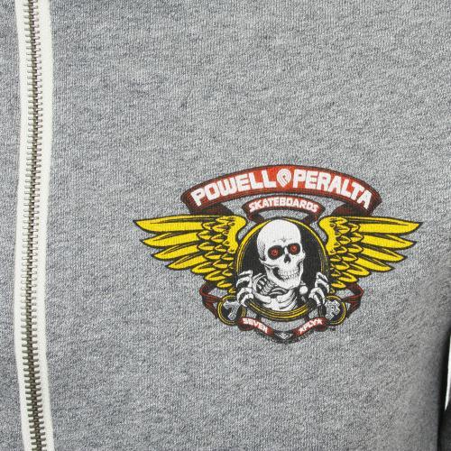 パウエル Winged Ripper Terry Zip メンズ ウェア スウェトシャツ グレー(Men's)