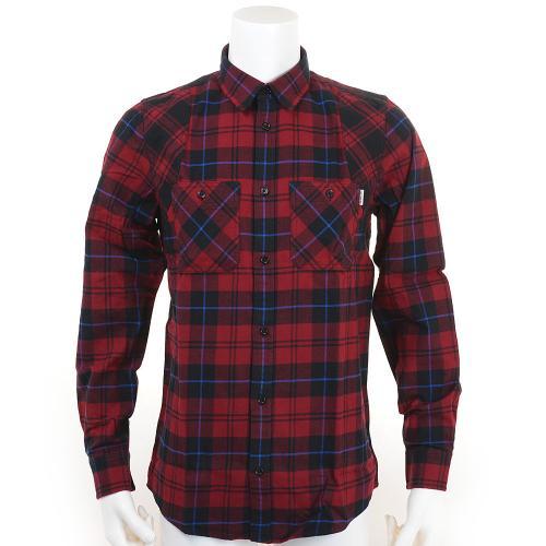 カーハート(CARHARTT) L/S NORRIS SHIRT ネル 布帛シャツ I019246V907 Cranberry(Men's)