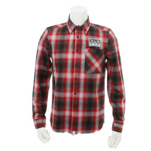 ALTAMONT SUB POP LS FLANNEL メンズ トップス フランネル 長袖シャツ AT16F2299 RED / BLACK(Men's)