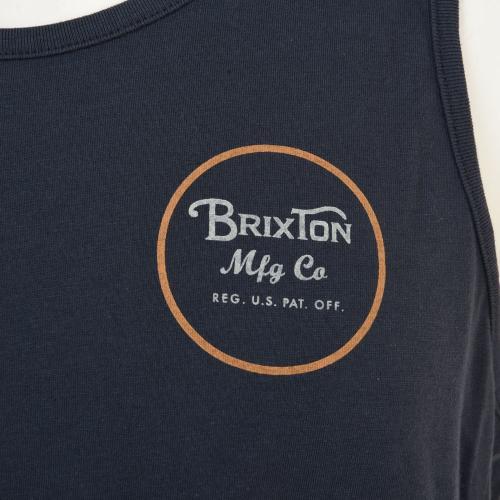 BRIXTON WHEELER TANK TOP メンズ トップス タンクトップ 401-06300-0100 INDIGO(Men's)