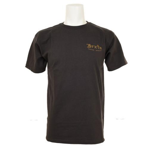 BRIXTON FLIER S/S TEE メンズ トップス 半袖Tシャツ 402-06300-0100 WASHED BLACK(Men's)