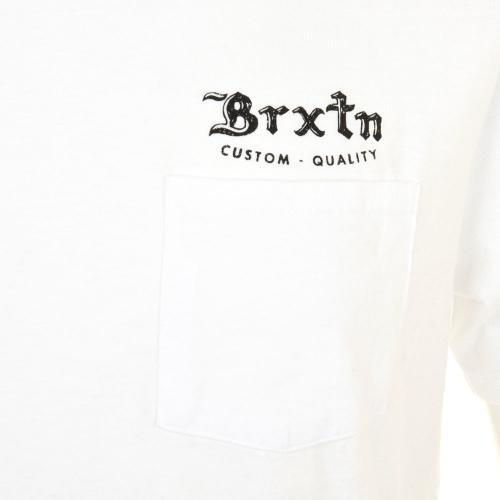 BRIXTON FLIER S/S POCKET TEE メンズ トップス 半袖Tシャツ 402-06300-0101 WHITE(Men's)