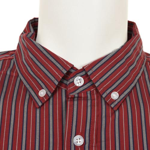 BRIXTON CADET S/S WVN メンズ トップス 半袖シャツ 404-06300-0100 BURGUNDY(Men's)