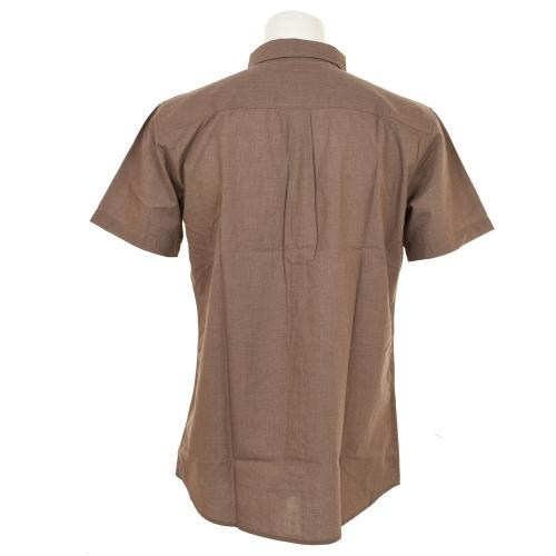BRIXTON CENTRAL S/S WOVEN メンズ トップス 半袖シャツ 404-06300-0100 HEATHER BRN(Men's)