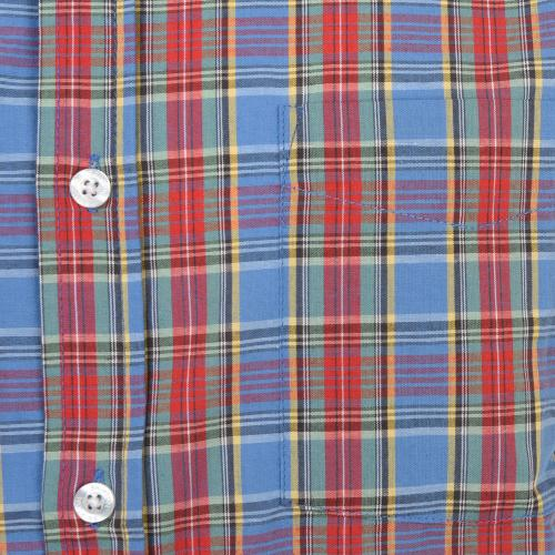 ARTHUR S/S WOVEN メンズ トップス 半袖シャツ 404-06300-0100 RED/BLUE