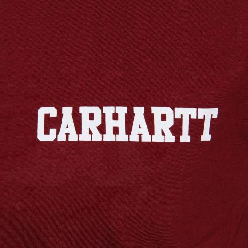カーハート(CARHARTT) メンズ 半袖 ロゴTシャツ S/S COLLEGE SCRIPT LT T-S I019638TP90B(Men's)