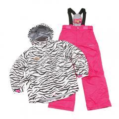 DREAM FLY ガールズ スキースーツ キッズ ジュニア 上下セット スキーウエア DF-GS0114SET ZEBRA(Jr)