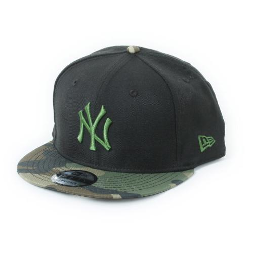 ニューエラ(NEW ERA) 9FIFTY ニューヨーク・ヤンキース ブラックxホリーリーフ ウッドランドカモバイザー 11308470 メンズ 帽子 キャップ(Men's)