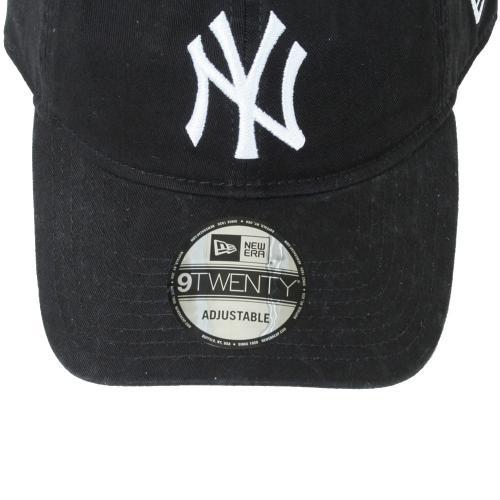 ニューエラ(NEW ERA) 9TWENTY Cloth Strap ウォッシュドコットン ニューヨーク・ヤンキース ブラックxホワイト 11308523 メンズ 帽子 キャップ(Men's)
