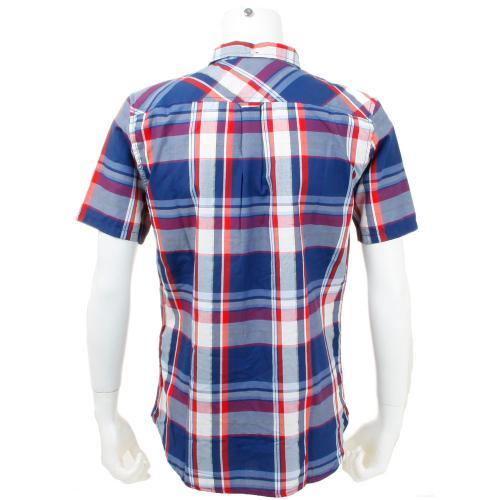 エレメント メンズ チェック ウェア シャツ 半袖 AG021122(Men's)