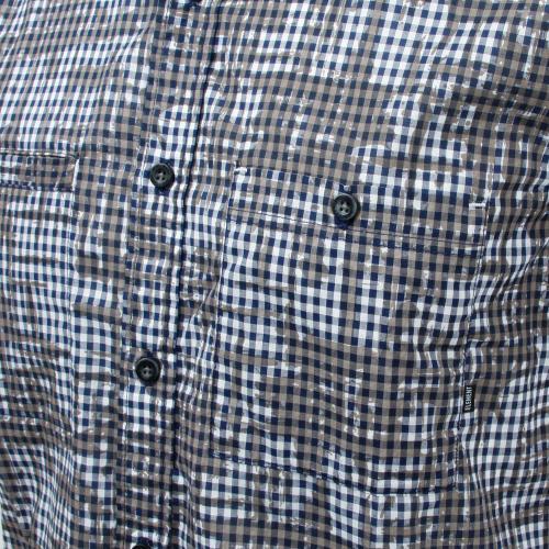 メンズ チェック プリント ウェア シャツ 半袖 AG021126