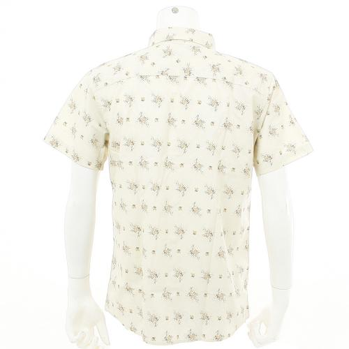 BRIXTON WAYNE S/S WOVEN メンズ トップス 半袖シャツ 404-06300-0100 OFFWHITE(Men's)