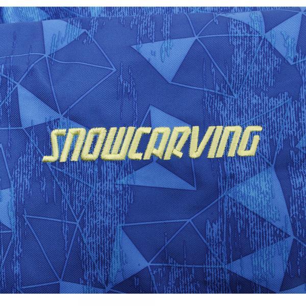 スノーカービング(SNOW CARVING) ヒートクロス ポリゴンJST 321SC7SP1062 BLU キッズ 上下セット スキーウエア(Jr)