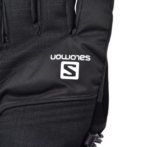 サロモン(SALOMON) JP BUFFALO GLOVE M L39419900 メンズ スノーボード ウインターグローブ 五本指 BLACKxGALET GREYxBLACK  スノボグローブ(Men's)