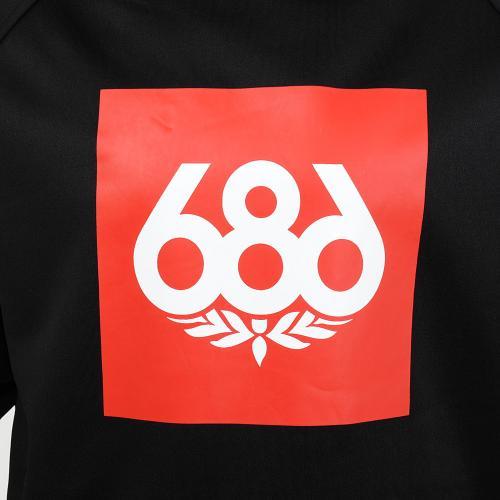 686 Knockout Bonded ノックアウト プルオーバー L6W127 BLACK メンズ スノーボードウェア インナー BLACK スノボウェア(Men's)