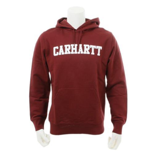 カーハート(CARHARTT) HOODED COLLEGE SWEATSHIRT メンズウエア パーカー I01506061990 エンジ(Men's、Lady's)