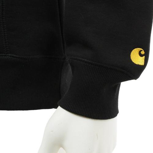 カーハート(CARHARTT) HOODED CHASE SWEATSHIRT スエットパーカー I0158978900 ブラック メンズ ウェア パーカ(Men's)