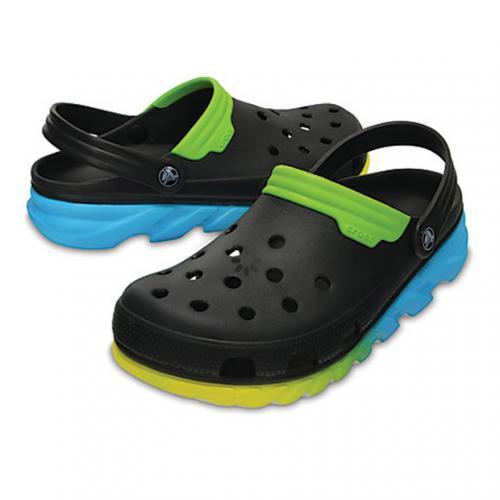 クロックス(crocs) デュエット マックス オンブレ クロッグ duet max ombre clog 204150-00Y Black/Green メンズ サンダル(Men's)