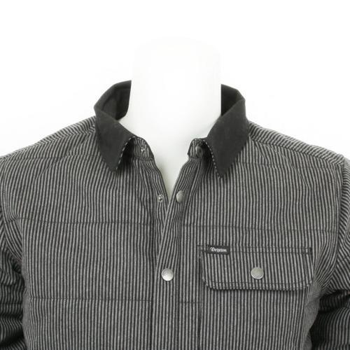 BRIXTON CASS JACKET メンズ キルティングジャケット 316-03027-0101 BLACK/GREY(Men's)