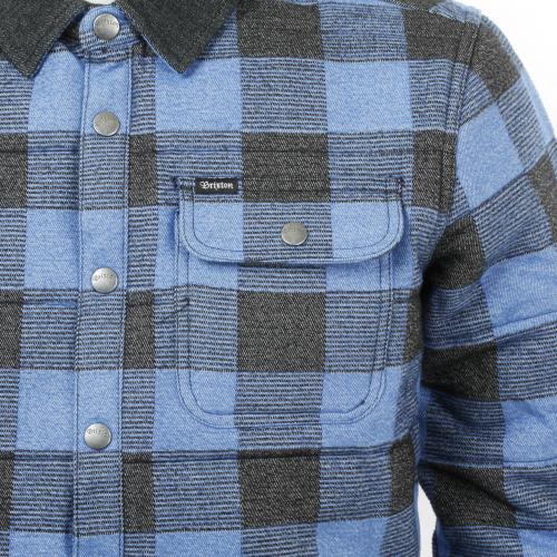 BRIXTON CASS JACKET メンズ キルティングジャケット 316-03027-0814 BLUE PLAID(Men's)