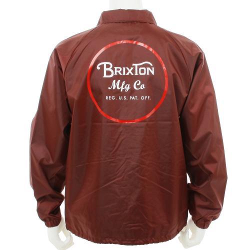BRIXTON WHEELER JACKET メンズ コーチジャケット 316-03137-0702 BURGUNDY(Men's)