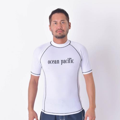 オーシャンパシフィック(Ocean Pacific) M ハンソテ゛ラッシュカ゛ート゛ 516670WHT マリンウエア メンズラッシュガード(Men's)