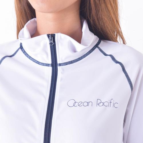オーシャンパシフィック(Ocean Pacific) L ナカ゛ソテ゛ラッシュカ゛ート゛ 526670WHT マリンウエア メンズラッシュガード(Lady's)