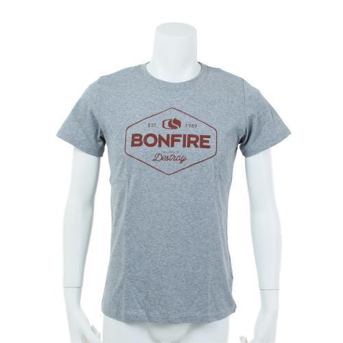ボンファイア(Bonfire) 【多少の汚れ等訳あり大奉仕】OG 半袖Tシャツ CGRY(Men's)