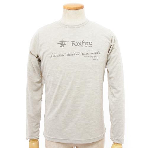 フォックスファイヤー(Foxfire) MEN'S SCネイチャーロゴT L/S 5215757-005 サンド メンズ 長袖Tシャツ(Men's)